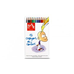 Caran d'ache TITEUF Assortiment 12 crayons de couleur aquarellables