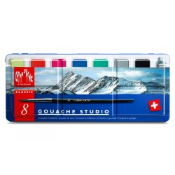 Caran d'AcheGOUACHE STUDIO Assortiment 8 couleurs en tablettes