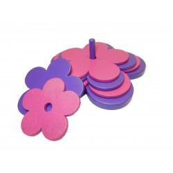 fleur violet/ rose