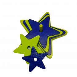 étoile vert-bleu