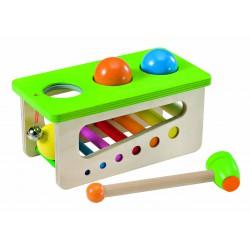 Battino, un jouet en bois à frapper