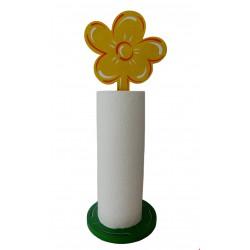 support fleur jaune