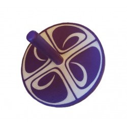 toupie violet-blanc