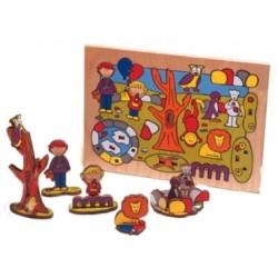 puzzle 3D, la place de jeu