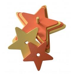 étoile orange-jaune