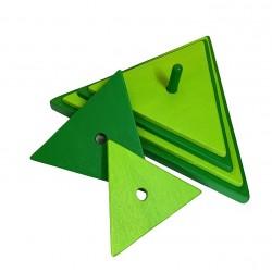 triangle vert foncé-vert clair