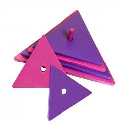 triangle rose-violet