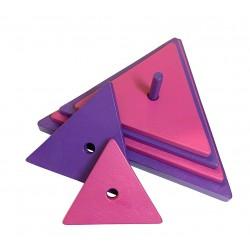 triangle violet-rose
