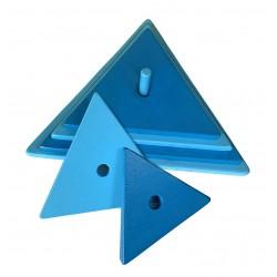 triangle bleu clair-bleu foncé
