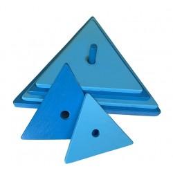 triangle bleu foncé- bleu clair