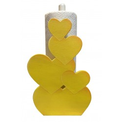 support coeur jaune