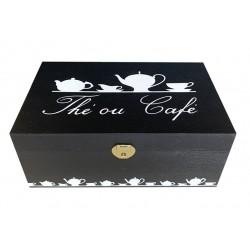 boite à thé noire
