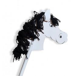 cheval bâton blanc-noir