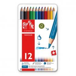 CARAN D'ACHE Fancolor Boîte métal de 12 couleurs